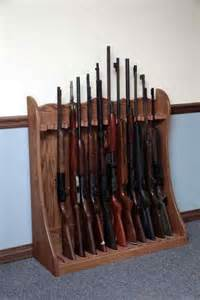 Floor Gun Rack by Floor Standing Amish Made Gun Rack Gun Cabinetry