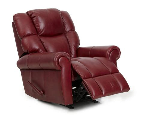 red recliner barcalounger hansen ii genuine pa rouge red leather