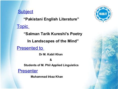 themes of pakistani literature in english landscape of the mind presentation final