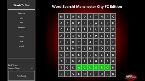 How To Search For On By City Word Search Manchester City Fc Edition Windows App Lisisoft