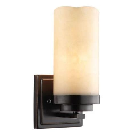 Candle Sconces Home Depot null cordova collection 1 light bronze wall sconce