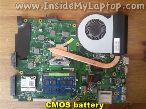 Asus Laptop Bios Battery Replacement how to disassemble asus q500a bhi7t05 inside my laptop