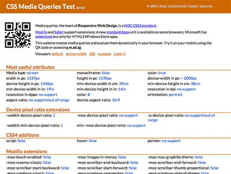 quiz css layout css media queries test best web design tools