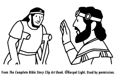 bible coloring pages david and mephibosheth crafts