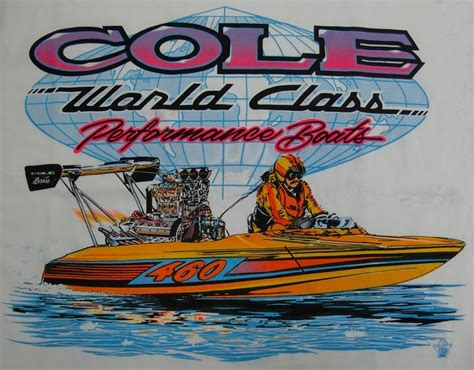 boat shirts vintage cole custom boats t shirt with pink lettering