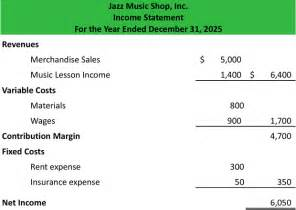 what is the contribution margin income statement