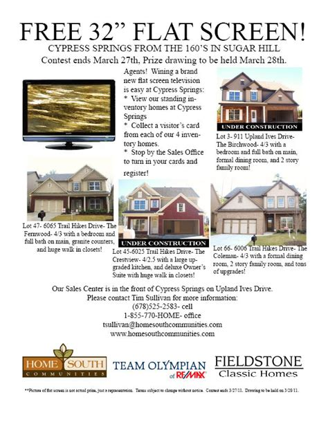 Tv Giveaway Flyer - realtor events tamra wade team re max center