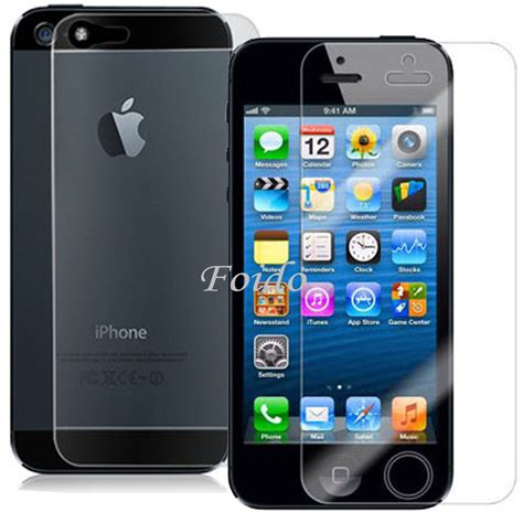 5 x front and 5 x back iphone 5 5s clear lcd screen protectors cover guard ebay