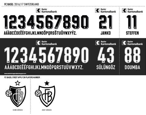 Custom Name Polyflex Font Juventus 1999 font fc basel 2016 17 kits timix patch timix patch
