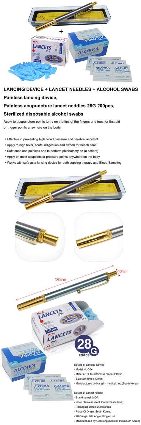 Diskon Gea Lancet 28g 200pcs painless acupuncture lancet needles 200pcs stainless steel painless lancing pen ebay