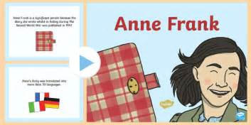 anne frank biography key stage 2 anne frank significant individual powerpoint anne frank