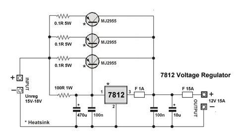 high current transistor voltage regulator high current 7812 voltage regulator images frompo