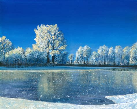 frozen pond by koziel
