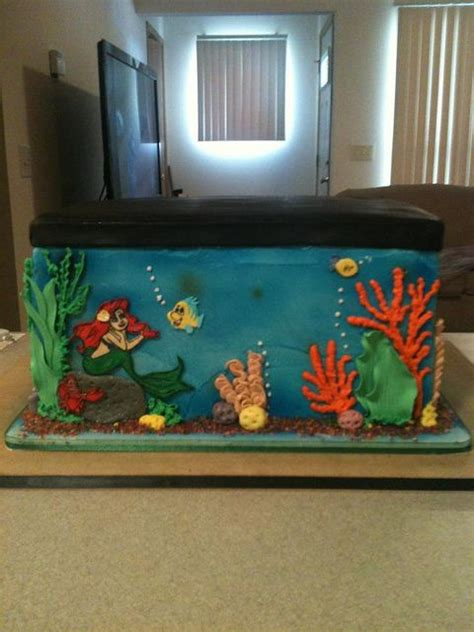 The Mermaid Fish Tank Decoration by Mermaid Fish Tank Birthday Cake Pasteles Cup