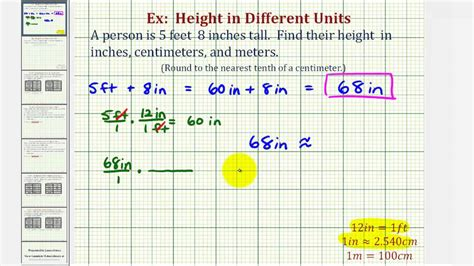 how to m ex convert height in feet and inches to inches