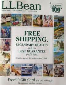 Where Can I Buy Ll Bean Gift Cards - free 10 l l bean gift card in catalog we love free