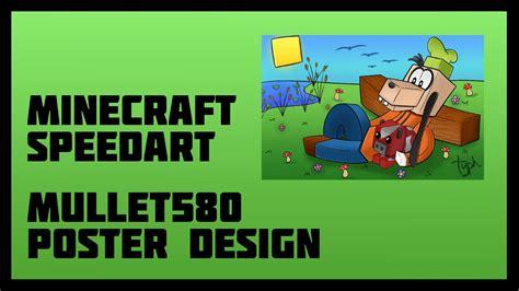 poster design youtube minecraft speedart mullet580 poster design youtube