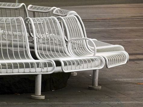 white metal bench free photo white metal bench resting free image on