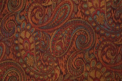 upholstery fabric tapestry robert allen tamil paisley tapestry upholstery fabric in henna