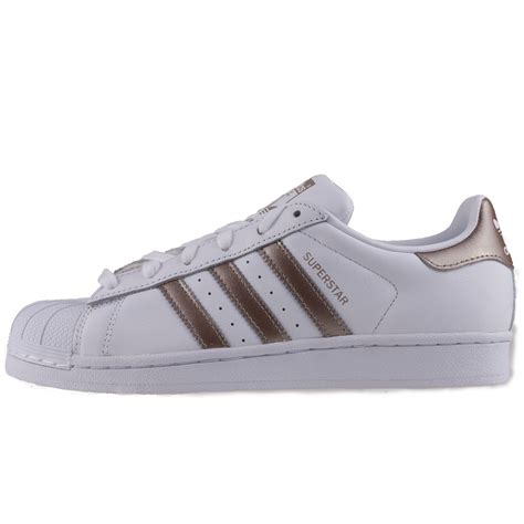 White Gold Superstar adidas superstar cg5463 womens trainers in white gold