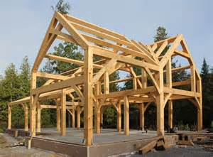 Timber frame house for a cold climate part 1