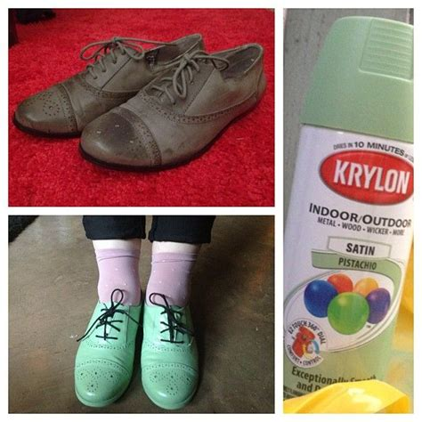 spray paint shoes crafty mccraftypants