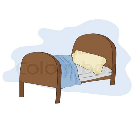 bed format kid bed illustration in vector format vector colourbox