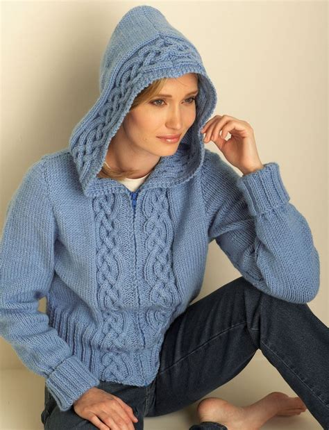 pattern hooded cardigan 159 best knit crochet clothing images on pinterest