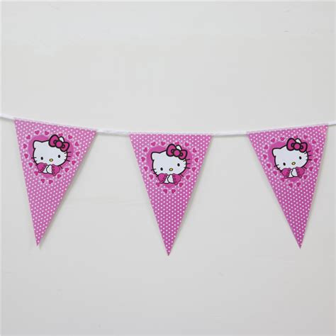 Banner Hello Bunting Flag Hello Banner Hello banners hanging banners birthday decoration supplies birthday banner flag