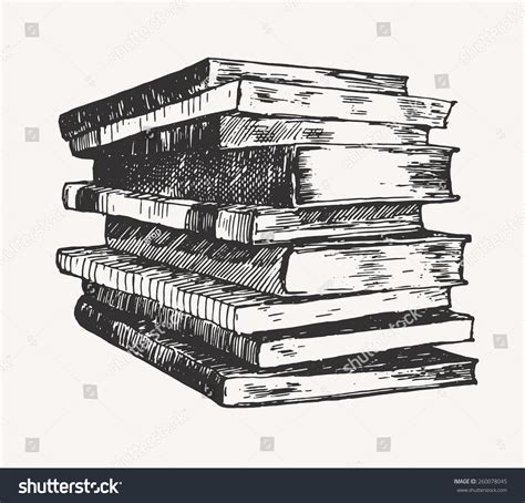 libro the laws sketchbook for pile stack old books vintage hand stock vector 260078045