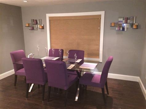 purple ikea dining chairs dining room