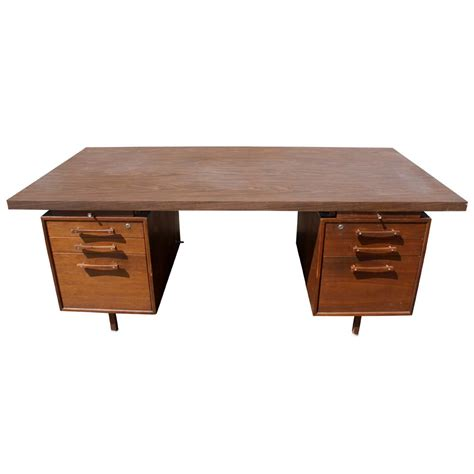 Office Desk Supply 1 70 Quot Vintage Industrial Office Supply Walnut Desk Ebay