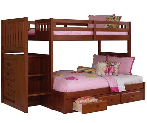 twin over full bunk beds stairs twin over full bunk bed with stairs girls thenextgen