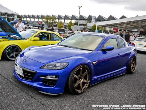 mazda vehicles list mazda rx 8 on bronze volk te37s at a meet in japan