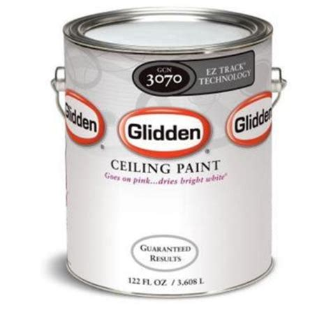 glidden 1 gal bright white flat ez track ceiling paint gcn3070 01 the home depot
