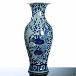 ming dynasty inspired blue porcelain vase painted