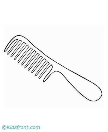 coloring page hair brush hairbrush coloring hairbrush hairbrushcartoon 第5页 点力图库
