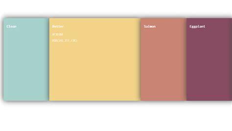 css color palette 20 css color palettes