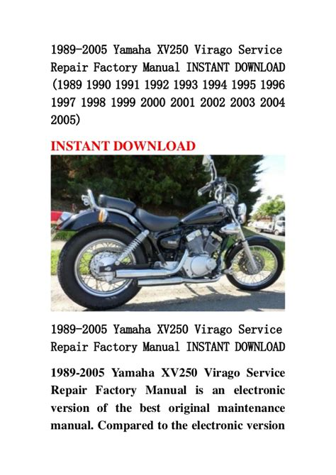 service manual how to work on cars 1989 ford mustang parking system prettyboy28364 s 1989 1989 2005 yamaha xv250 virago service repair factory manual instant d