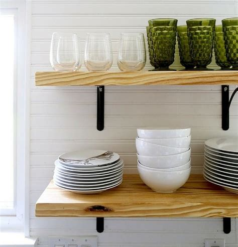 Great Kitchen Storage Ideas Airy Looking Diy Kitchen Open Shelving Shelterness