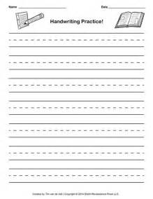 Writing Paper Online Free Free Handwriting Practice Paper For Kids Blank Pdf Templates