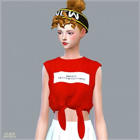 sims 4 cc crop tops tied sleeveless crop top at marigold 187 sims 4 updates