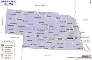 Of Ne State Map Of Nebraska