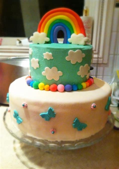 Cake Rainbow Decoration by You To See Rainbow Cake By Macgurl