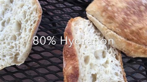 80 hydration ciabatta crumb of ciabatta 75 80 85 hydration