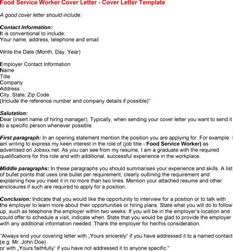 Food Services Cover Letter by Food Services Cover Letter Botbuzz Co