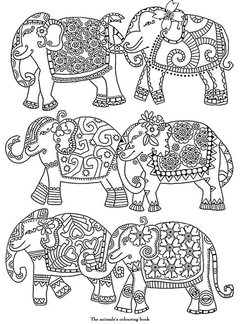 coloring pages abstract elephant elephants abstract doodle zentangle zendoodle paisley