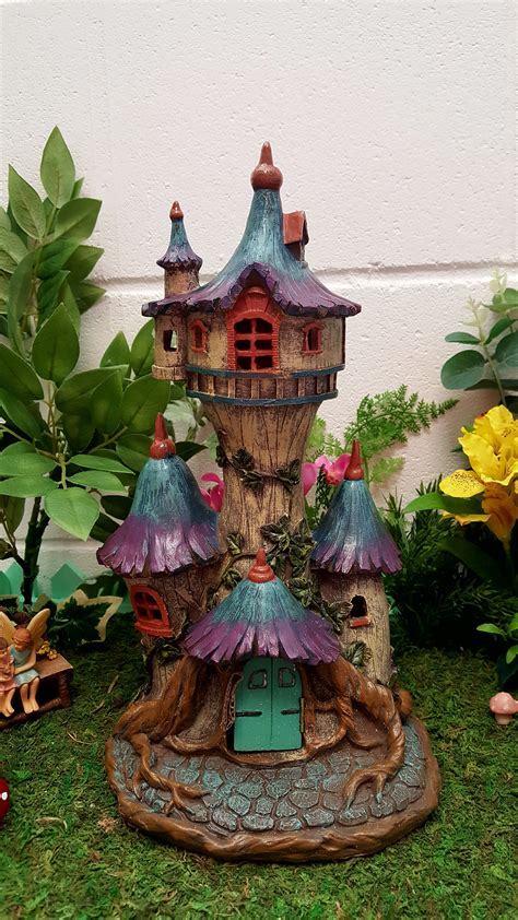 blue glade fairy castle fairy gardens uk