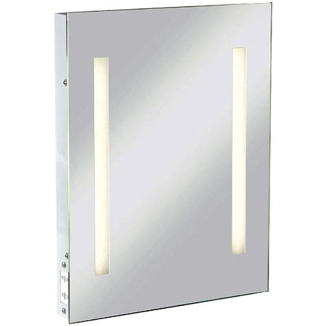 rectangular bathroom mirror with lights and shaver socket