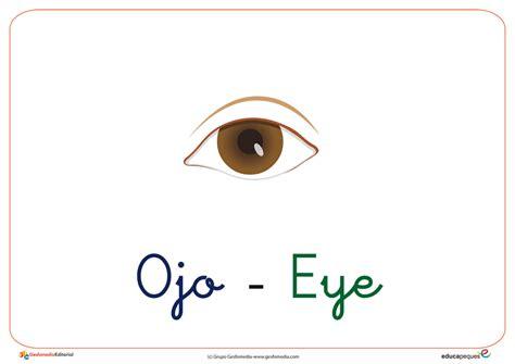 imagenes en ingles con la letra o fichas de vocabulario con la letra o ojo